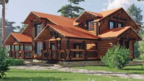 Проект дома Гранат оцилиндрованное