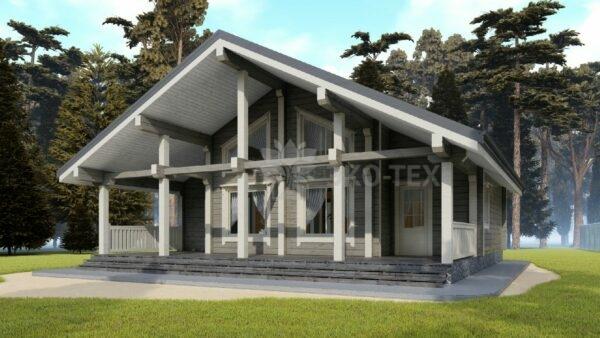 Проект дома Хельсинки клееный брус