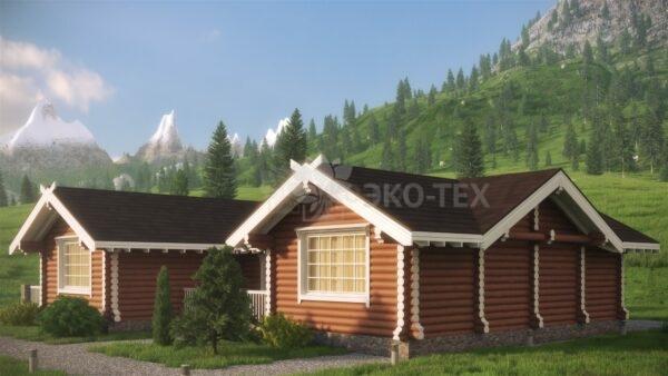 Проект дома Хижина Лесника оцилиндрованное