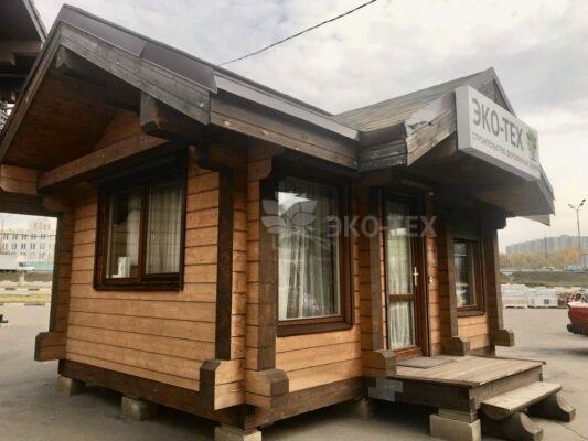 Фото выставка деревянных домов от Эко-Тех - ТЦ «Синдика» МКАД 65 км