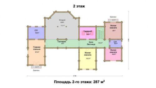 Проект дома Империал оцилиндрованное