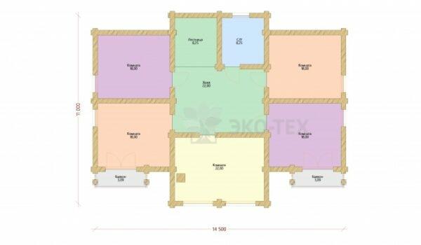 Проект дома Янтарь оцилиндрованное