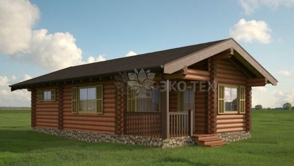 Проект дома Капри оцилиндрованное бревно