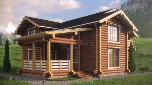 Проект дома Клевер оцилиндрованное