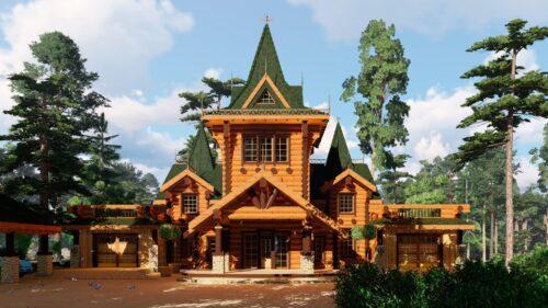 Проект дома Князь Владимир оцилиндрованное
