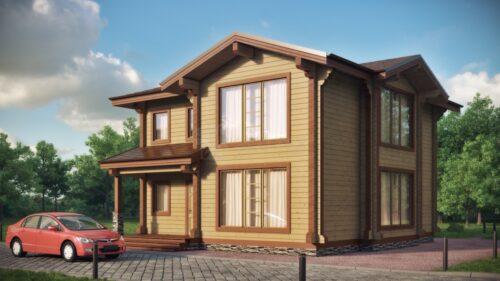 Проект дома Комплимент клееный брус