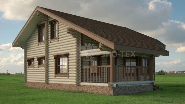 Проект дома Лесник оцилиндрованное бревно