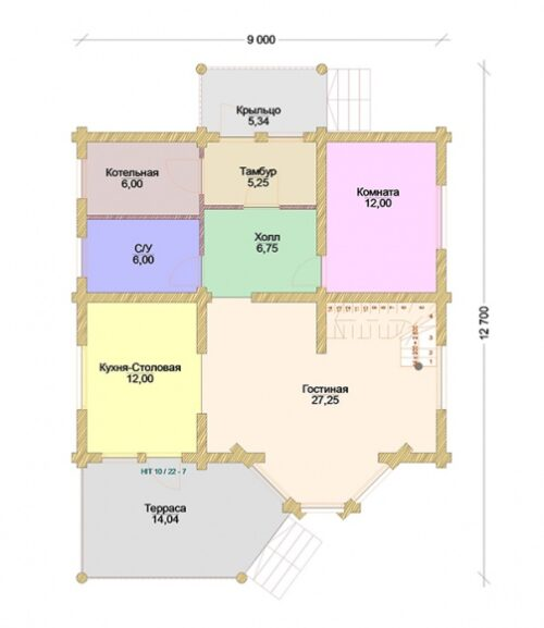 Проект дома Лесник оцилиндрованное бревно планировки