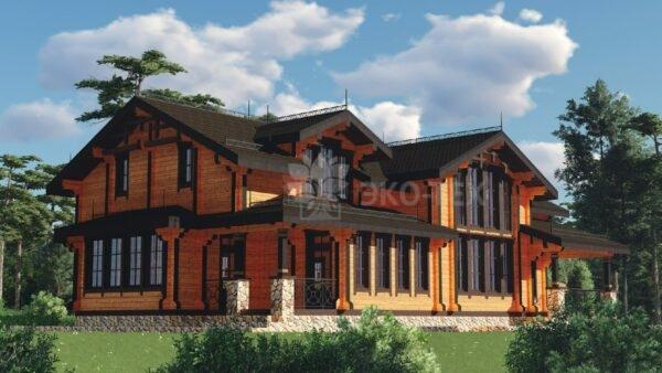Проект дома Линкольн клееный брус