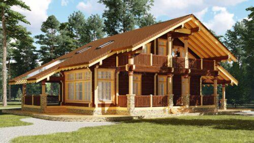 Проект дома Макси клееный брус