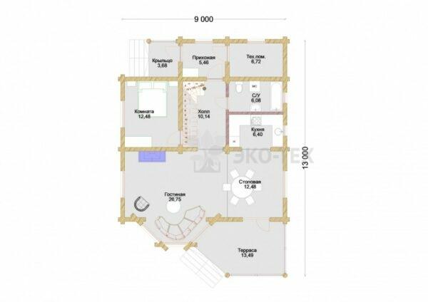 Проект дома Мечта оцилиндрованное бревно
