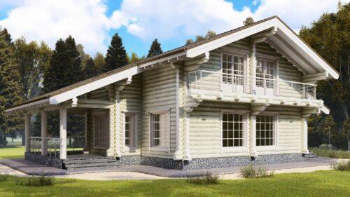 Проект дома Морган оцилиндрованное бревно