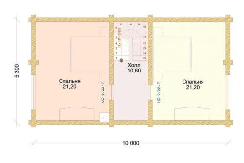 Проект дома Неаполь оцилиндрованное