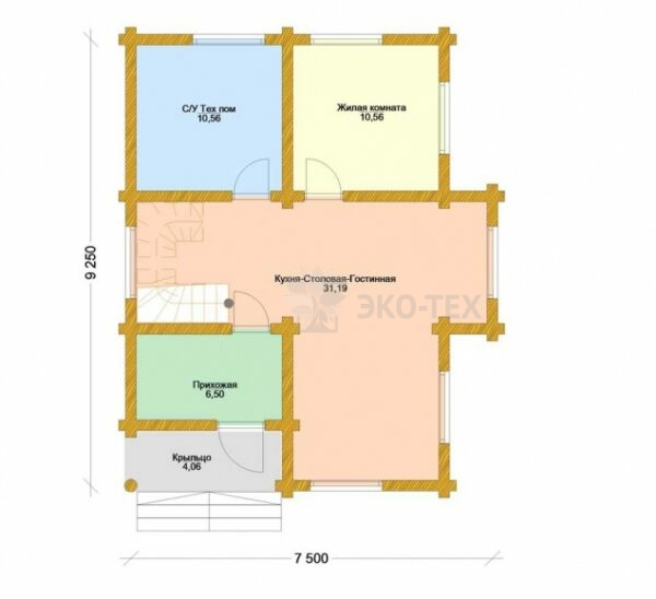 Проект дома Нимфа оцилиндрованное