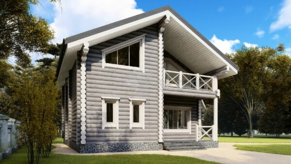 Проект дома Одинцово оцилиндрованное бревно