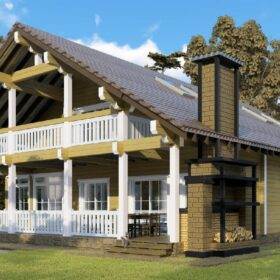 Проект дома Пилигрим клееный брус