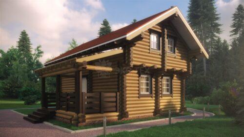 Проект дома Подмосковье оцилиндрованное