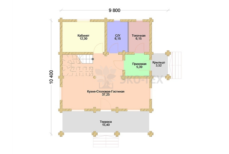 Планировка 1 этаж