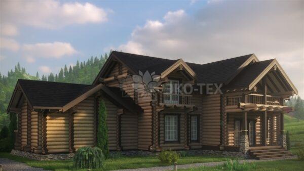 Проект дома Ранчо оцилиндрованное