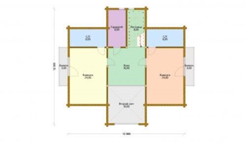 Проект дома Ричард клееный брус