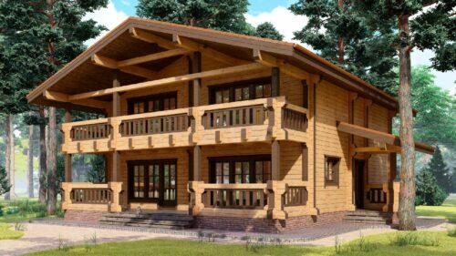 Проект дома Родос клееный брус