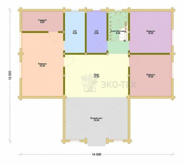 Проект дома Руссо клееный брус