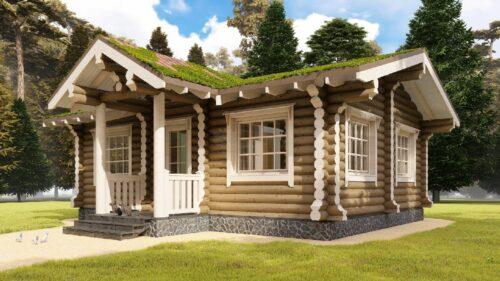 Проект дома Садовый оцилиндрованное бревно