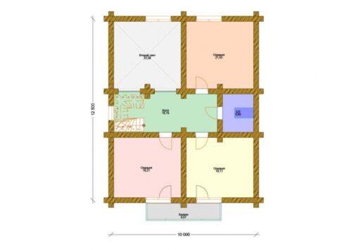 Проект дома Серебряный бор оцилиндрованное
