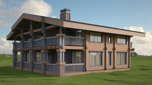 Проект дома Шале клееный брус