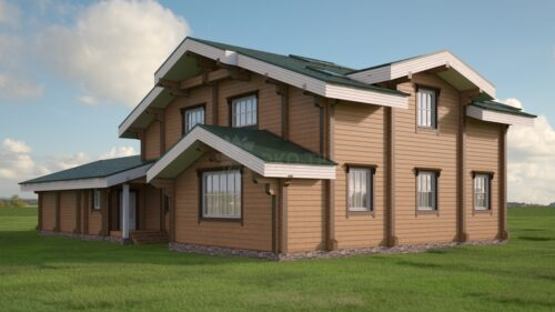 Проект дома шельф клееный брус