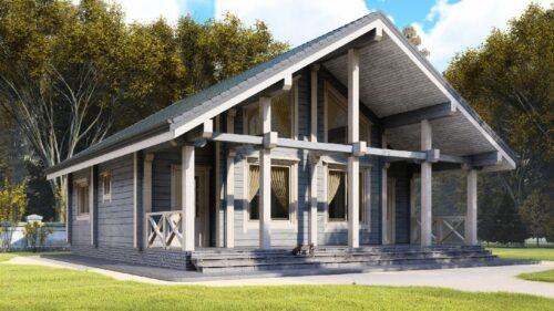 Проект дома Синдика клееный брус