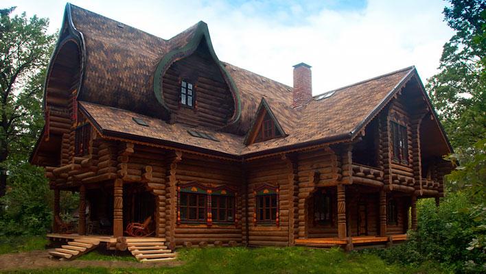 Эко-тех дом в духе русских сказок