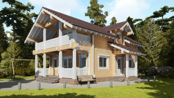 Проект дома Сколково клееный брус