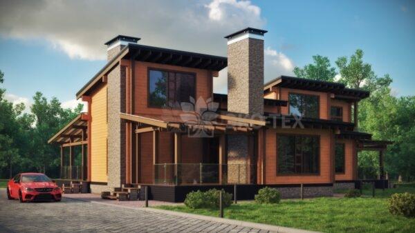 Проект дома София клееный брус