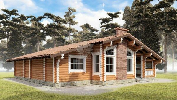Проект дома Сокол оцилиндрованное бревно