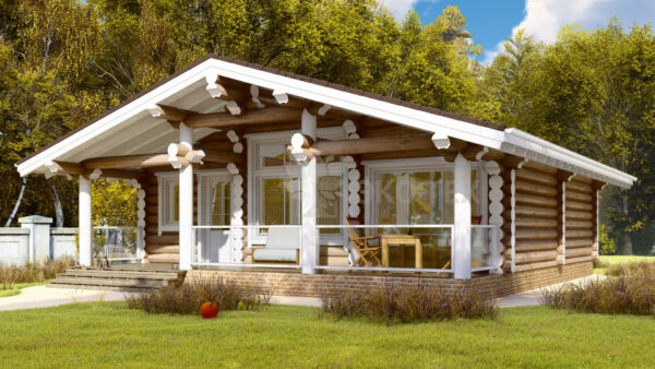 Проект дома Солнечногорск оцилиндрованное бревно