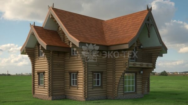 Проект дома Терем оцилиндрованное