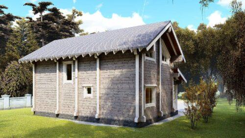 Проект дома Томилино клееный брус