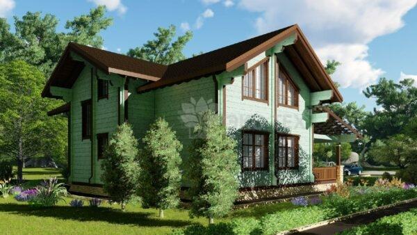 Проект дома Триумф клееный брус