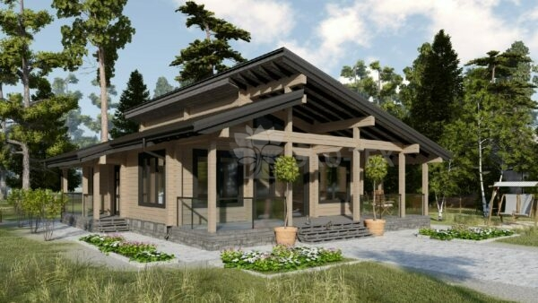Проект дома Турин клееный брус