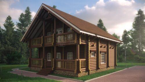 Проект дома Виктория оцилиндрованное