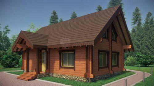 Проект дома Вишня клееный брус
