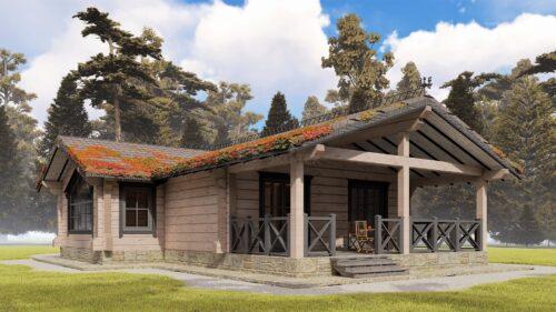 Проект дома Зазеркалье клееный брус