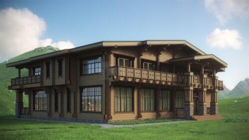 Проект дома Зевс клееный брус