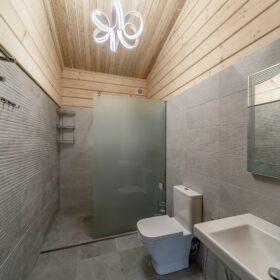 Эко-тех индивидуальный проект бани, строительство и отделка фото
