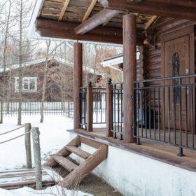 Эко-тех дом оцилиндрованное бревно, строительство и отделка фото