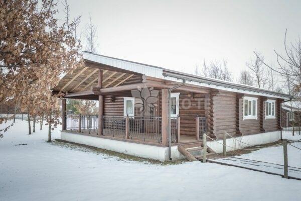 Эко-тех дом с баней,оцилиндрованное бревно, строительство и отделка фото