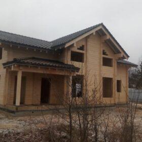 """Эко-тех Этапы строительства дома """"Беловежская пуща"""""""
