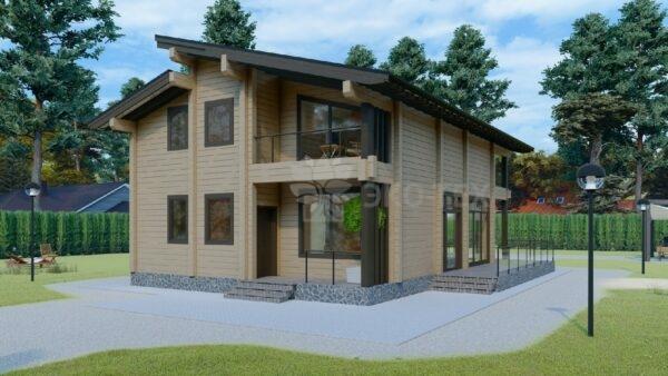Проект дома Верея клееный брус