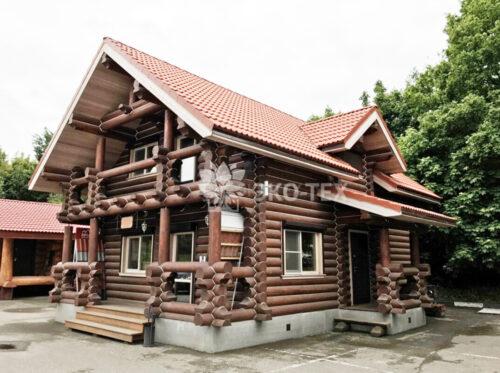 Фото дома Заречье оц бревно, выставочный образец